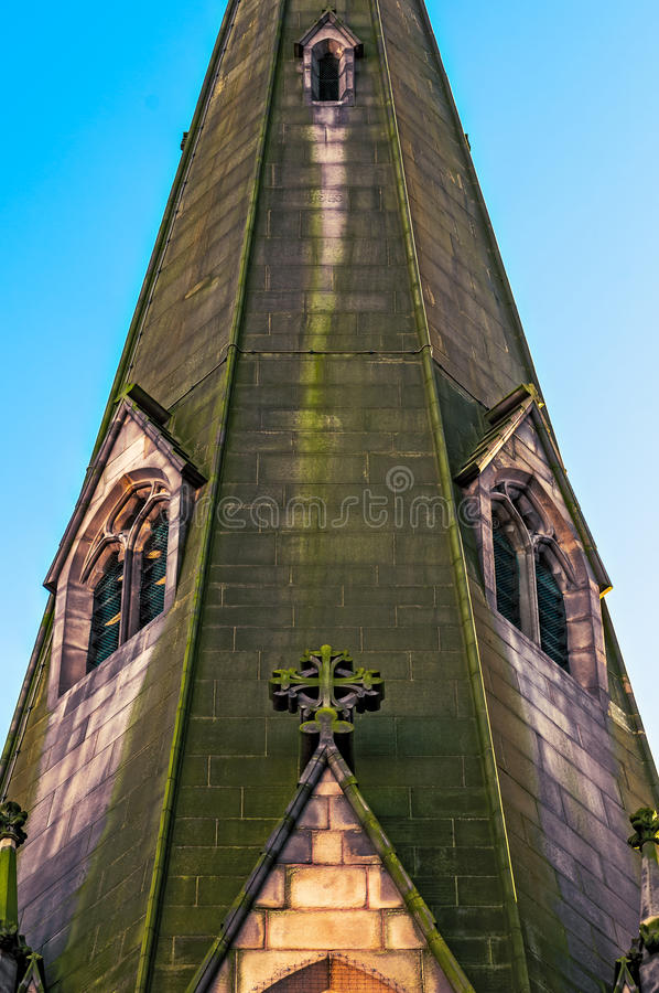 Detail of the St. Martins Church in Birmingham City Centre royalty free stock photos