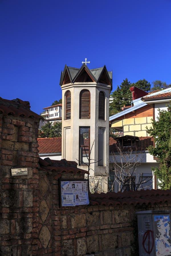 Detail from St. Nikola Gerakomija Church in Ohrid stock photos