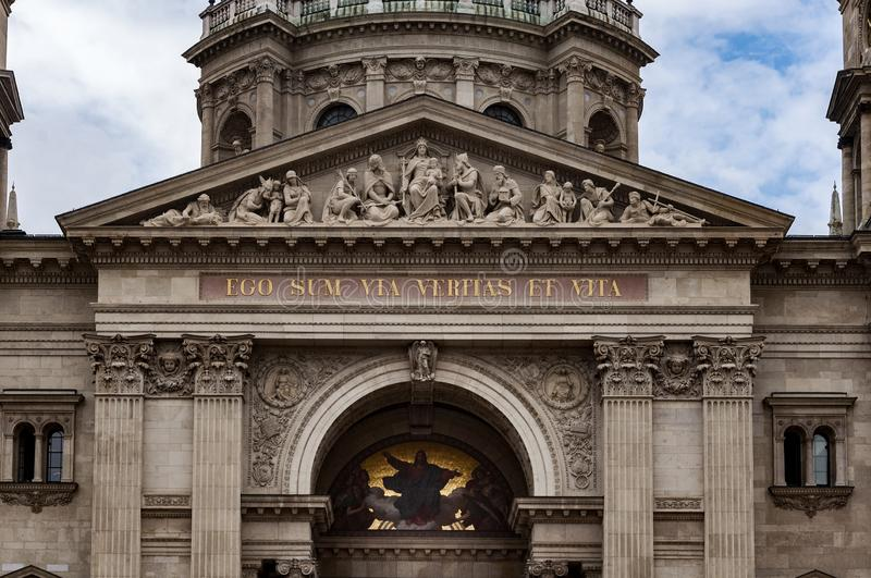 Detail of St. Stephen`s Basilica royalty free stock images