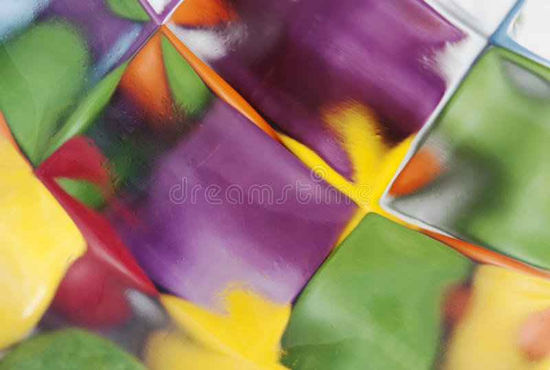 Detail of stained glass royalty free stock images