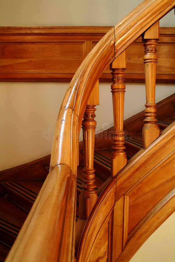 Detail of a stairs handle royalty free stock photo