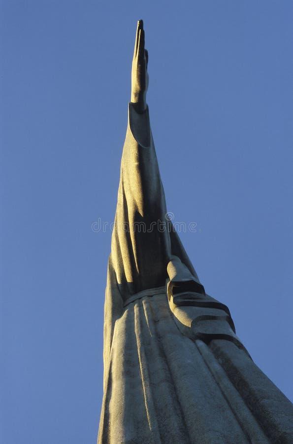 Detail of the statue of Christ the Redeemer, Rio de Janeiro, Bra stock photos