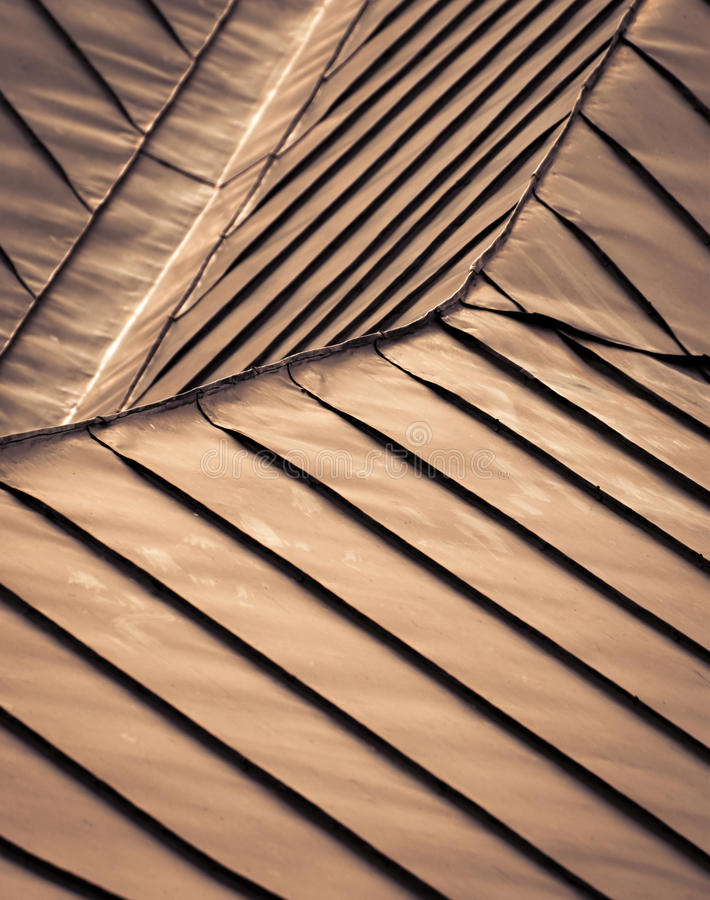 Detail steel roof royalty free stock photography