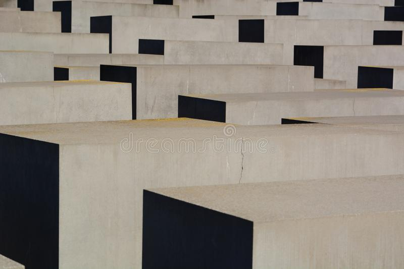 Detail of the stelae. Memorial to the Murdered Jews of Europe. Berlin. Germany. Berlin is the capital and largest city of Germany; the Memorial to the Murdered stock photos