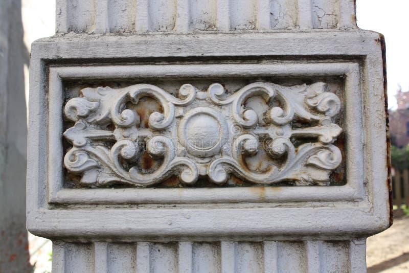 Detail stone column royalty free stock photography