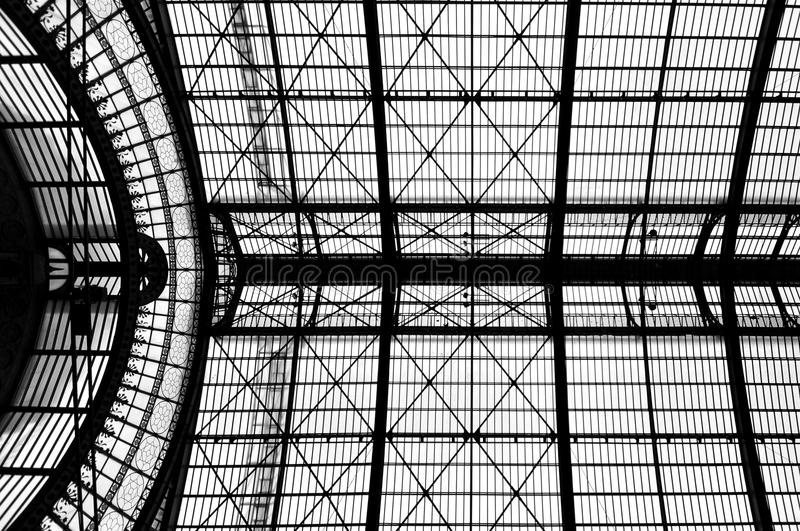 Detail structure at Antwerp Central Station stock image