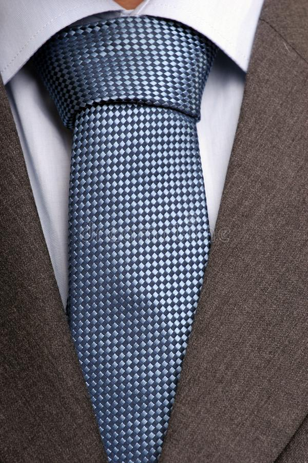 Detail of suit and tie stock image