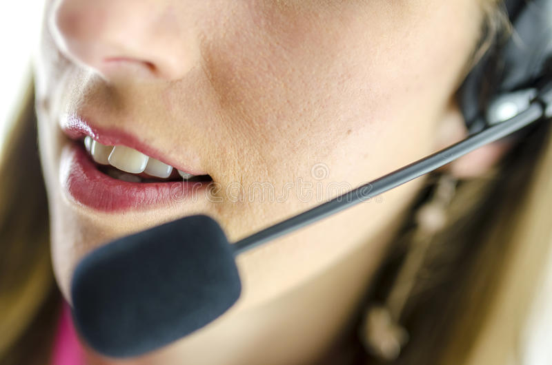 Detail of support phone operator