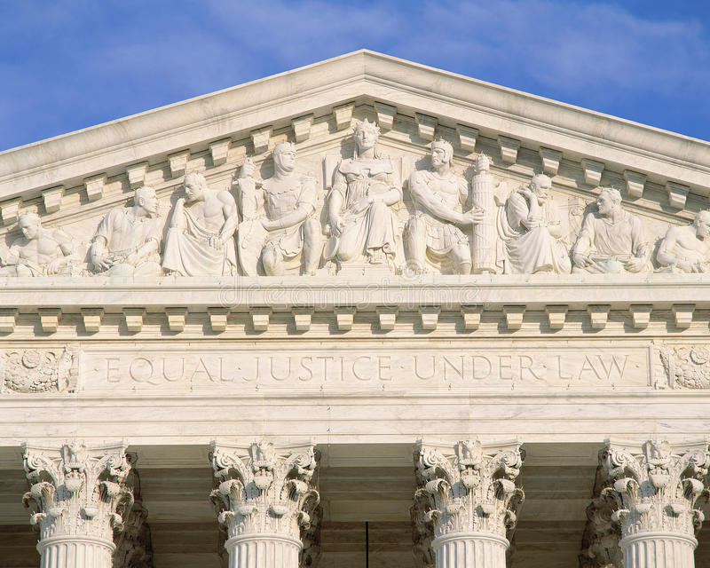 Detail from Supreme Court Building stock image