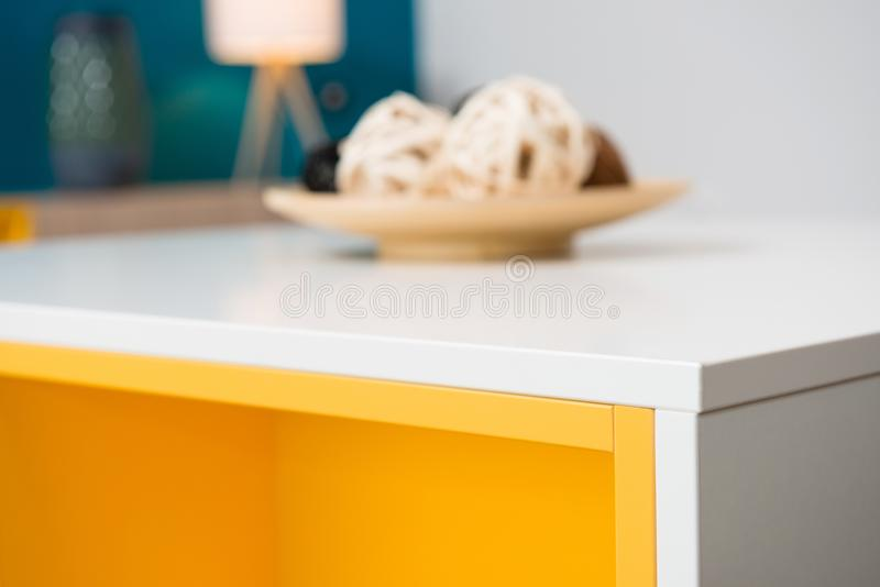 Detail of table edge in living room. Detail of table edge in contemporary living room interior stock images