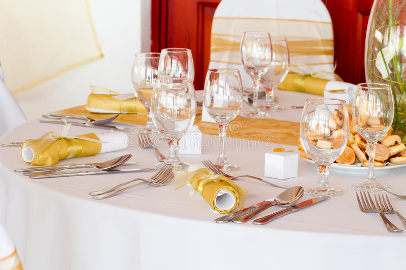 Download Detail of a table set stock photo. Image of gathering - 26515780