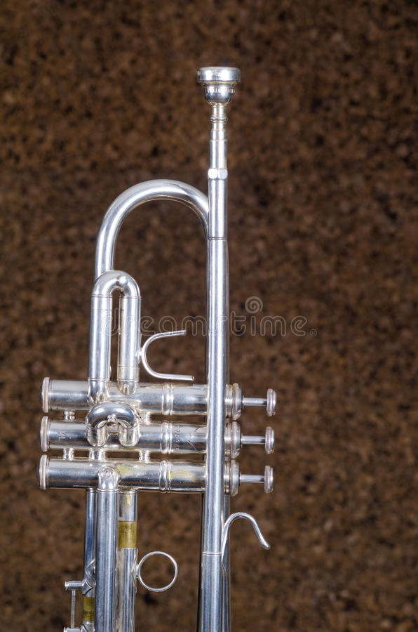 Detail take of a trumpet stock photography
