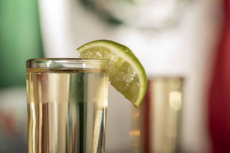 Detail of tequila shot royalty free stock photos
