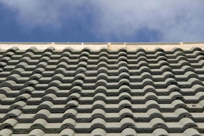 Detail of a tiled Roof stock photography