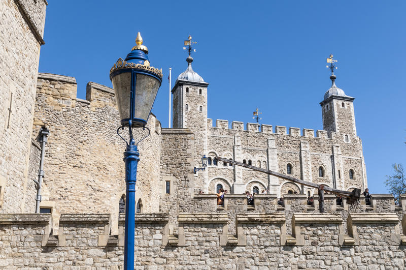 Detail of the Tower of London, UK.