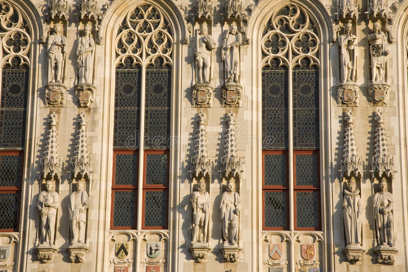 Download Detail On Town Hall, Bruges Stock Photo - Image: 11392980