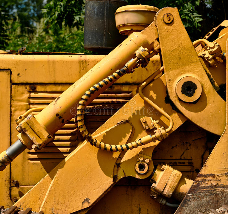 Detail of tractor hydraulic royalty free stock images