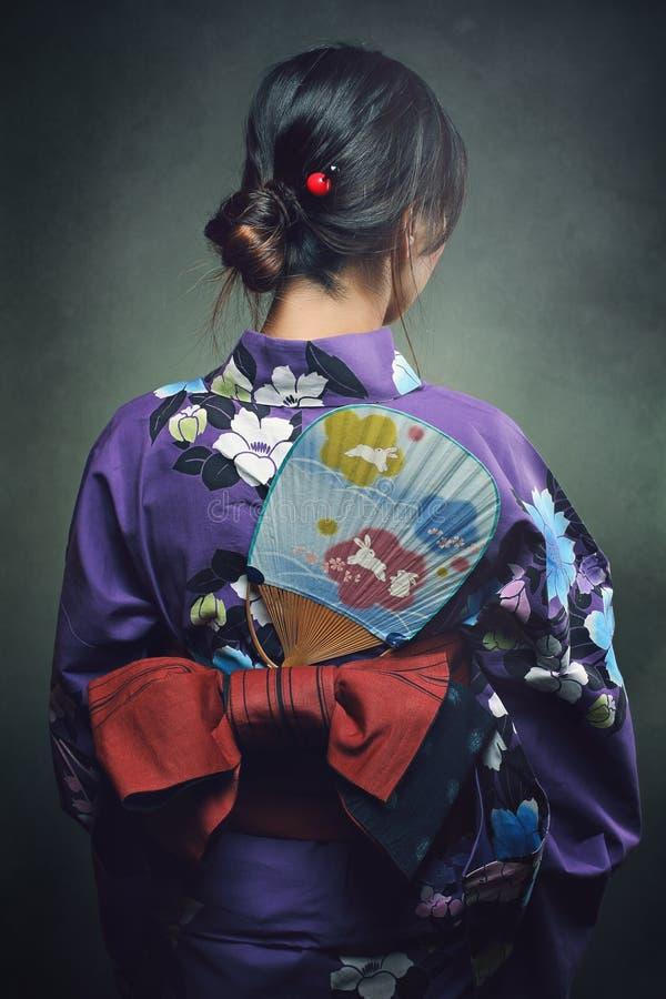 Detail of traditional kimono royalty free stock photography