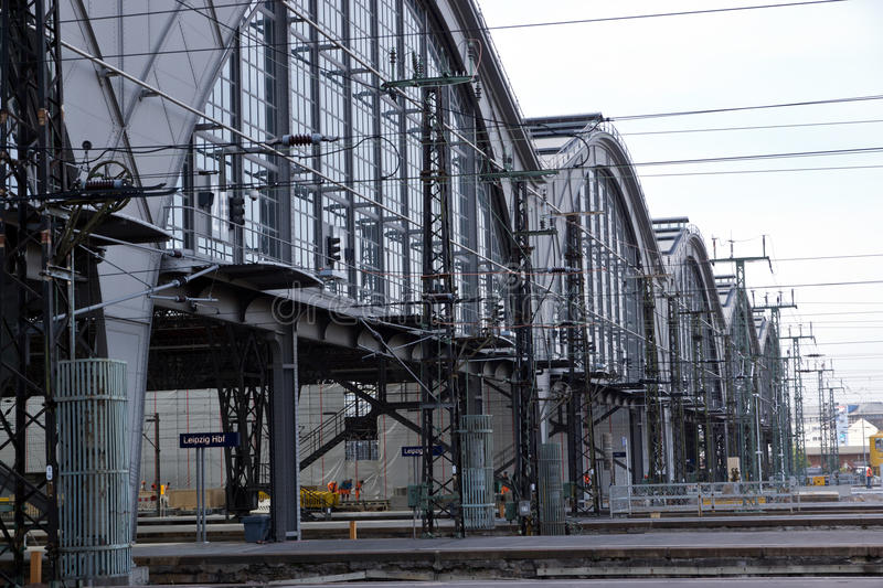 Detail of the train stations stock photography
