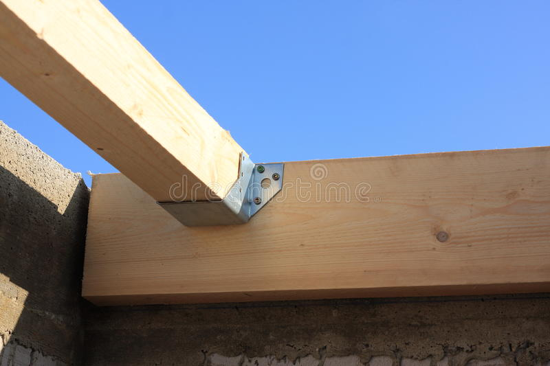 Detail of the truss joints stock photos