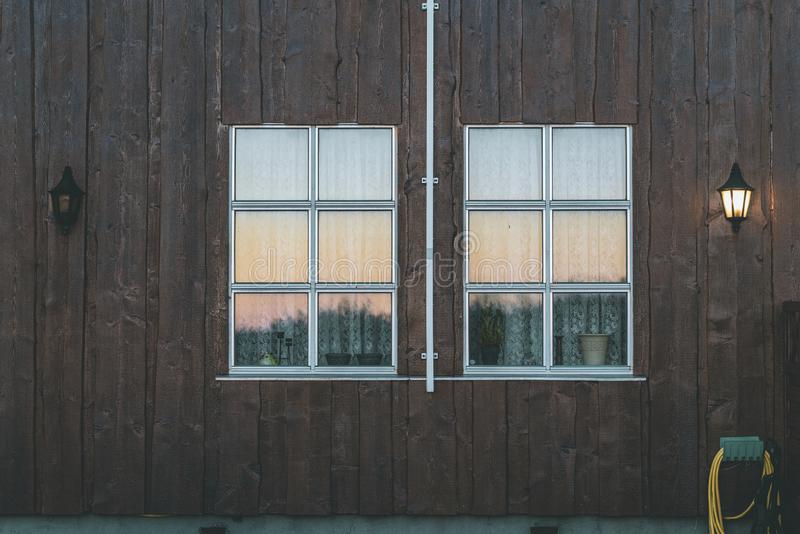 Detail Of Typical Scandinavian Houses royalty free stock image