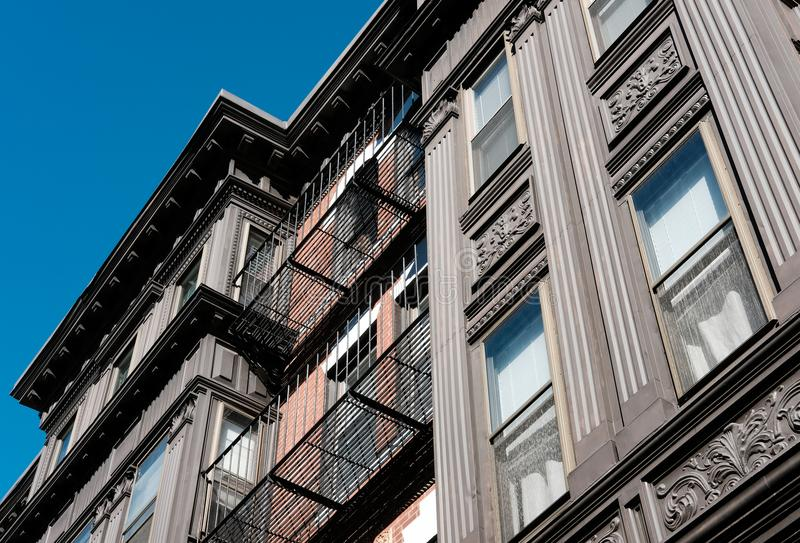 Private, luxury apartments seen in downtown Boston, MA. royalty free stock image