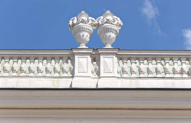 Detail from Upper Belvedere Palace in Vienna stock photography