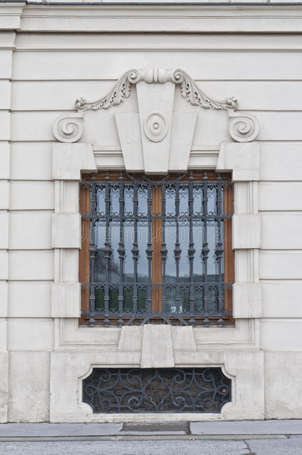 Detail from Upper Belvedere Palace in Vienna royalty free stock photography