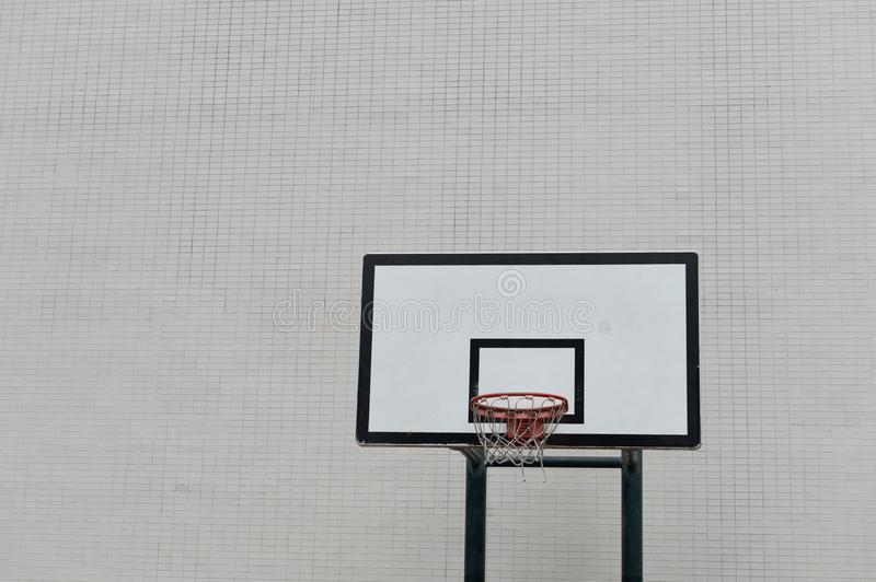 Urban Street Basketball Court and Hoop stock images