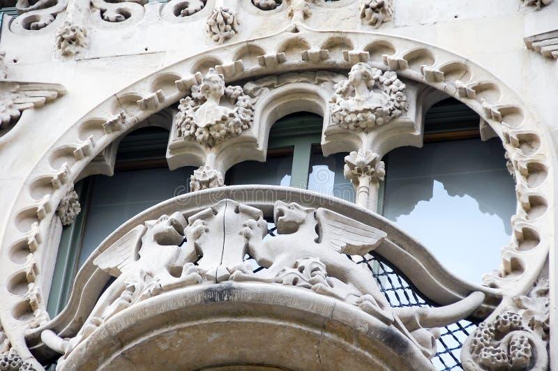 Detail van Batllo-Huis door Antoni Gaudi royalty-vrije stock foto's