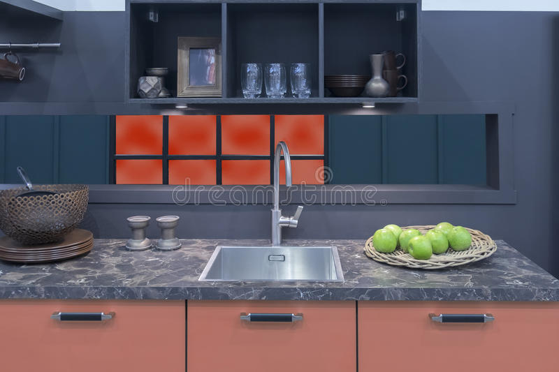 Detail van binnenland van keuken royalty-vrije stock foto's