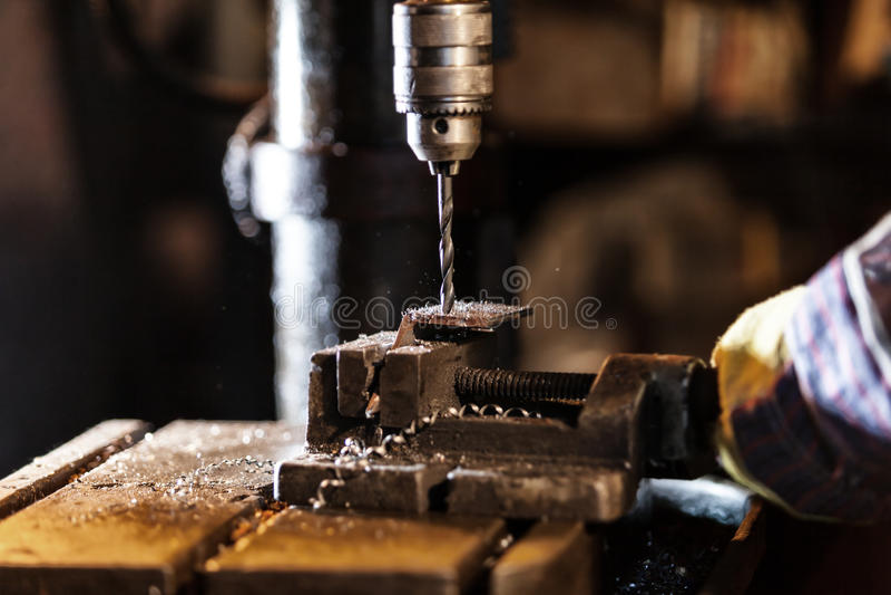 Detail van boor-machine stock fotografie