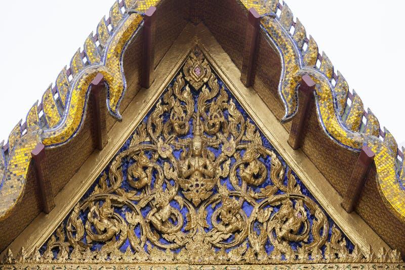 Detail van dakdecoratie stock foto