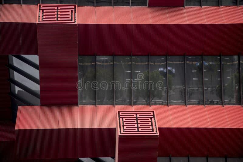 Detail van de bouw, China Art Museum, Shanghai stock foto