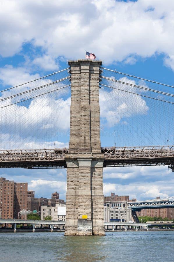 Detail van de brug van Brooklyn in de Stad van New York royalty-vrije stock foto's
