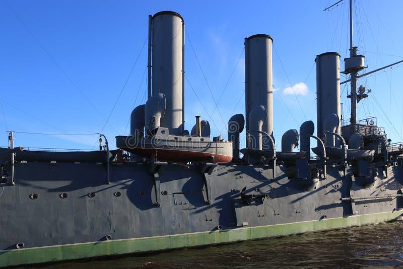 Detail van de Dageraad van de oorlogsschipkruiser stock fotografie