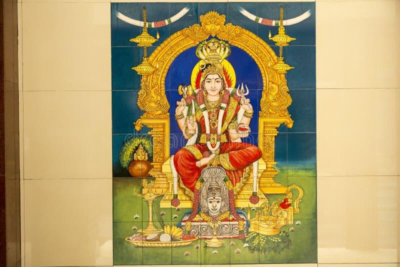 Detail van de decoratie van Hindoese tempel royalty-vrije stock foto