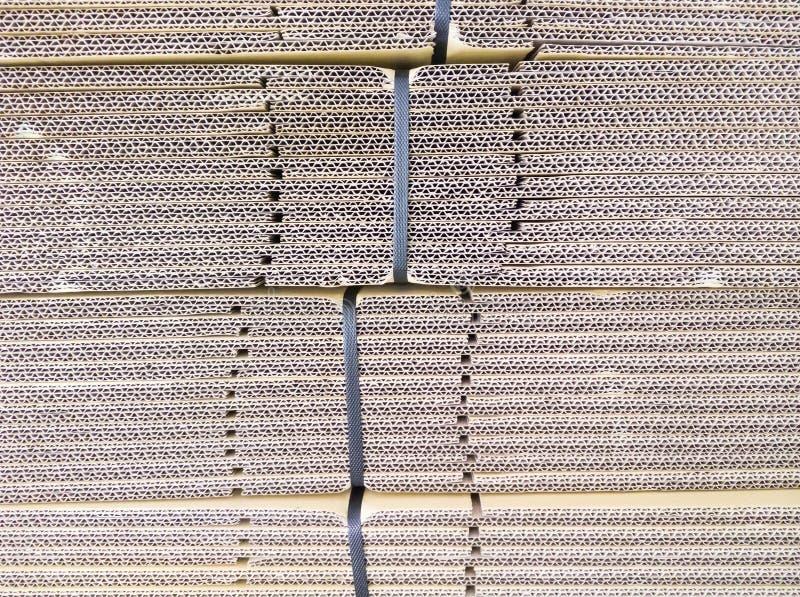 Detail van de kartonstapel stock afbeelding
