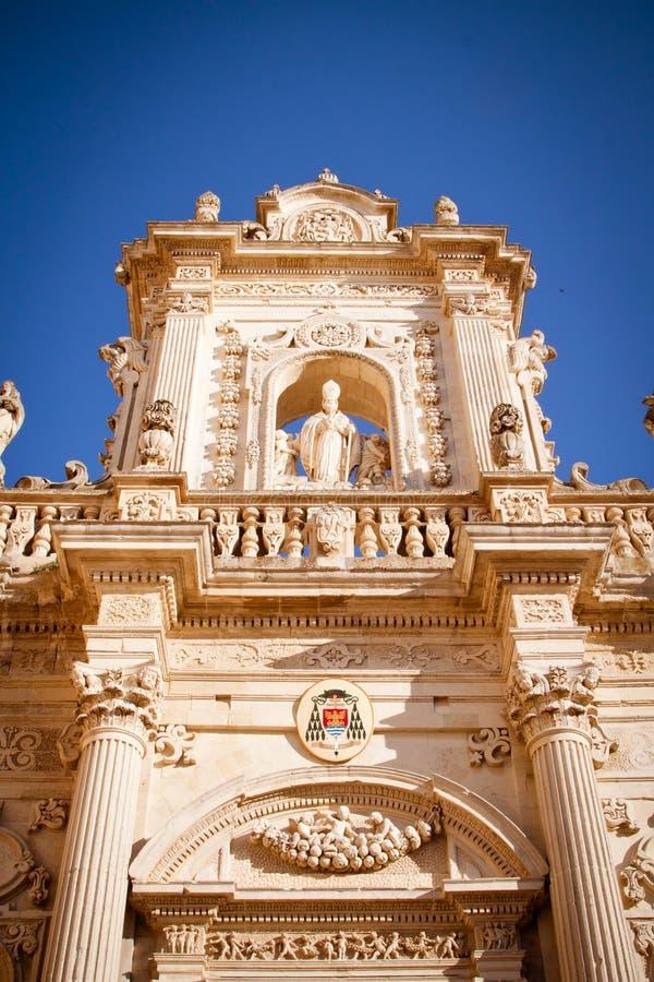 Detail van de kathedraal van Lecce stock fotografie