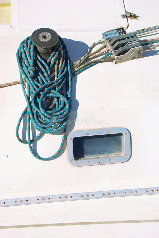 Detail van de kruk van een zeilboot royalty-vrije stock fotografie