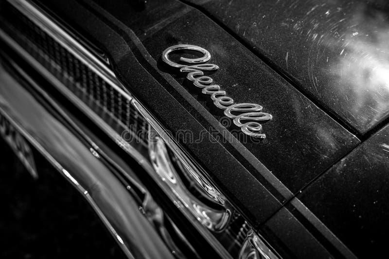 Detail van de medio-grootteauto Chevrolet Chevelle stock foto