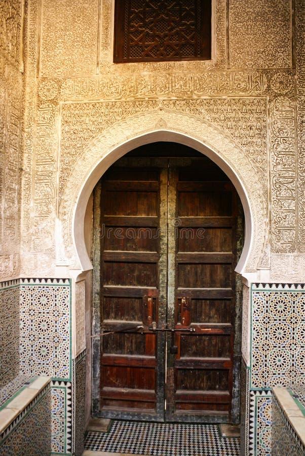 Detail van de mooie decoratie van het tegelmozaïek van in Fez, Mo royalty-vrije stock afbeelding