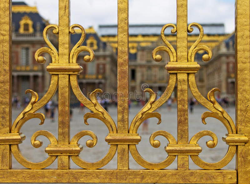 Detail van de Omheining, Paleis van Versaille royalty-vrije stock afbeeldingen
