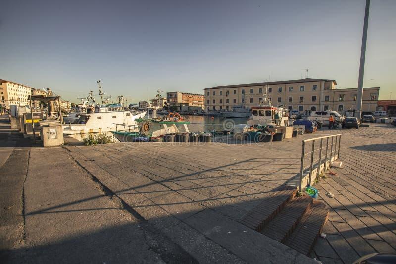 Detail van de oude haven van Livorno #2 stock foto's