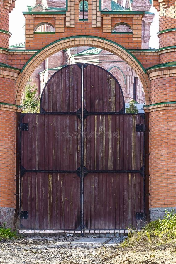 Detail van de oude kloosterbouw royalty-vrije stock foto