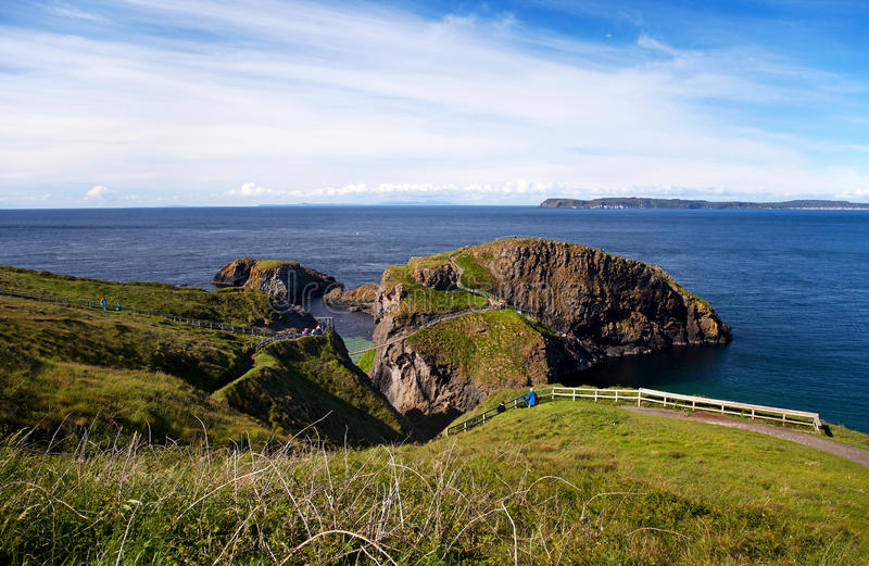 Detail van de ReuzeVerhoogde weg, Ierland stock afbeelding