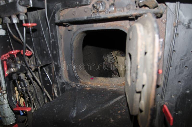 Detail van de stoom het voortbewegingscabine stock foto's