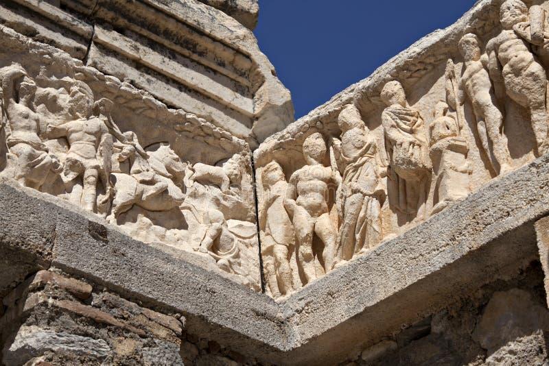 Detail van de Tempel van Hadrian, Ephesus