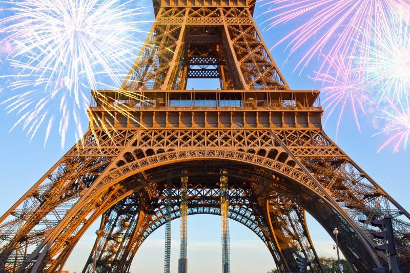 Detail van de toren van Eiffel, Parijs, Frankrijk royalty-vrije stock fotografie