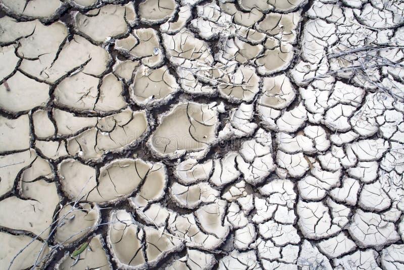 Detail van droog land, klimaatverandering stock afbeelding
